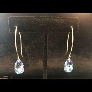 Sterling silver/Genuine Swarovski Crystal Earrings